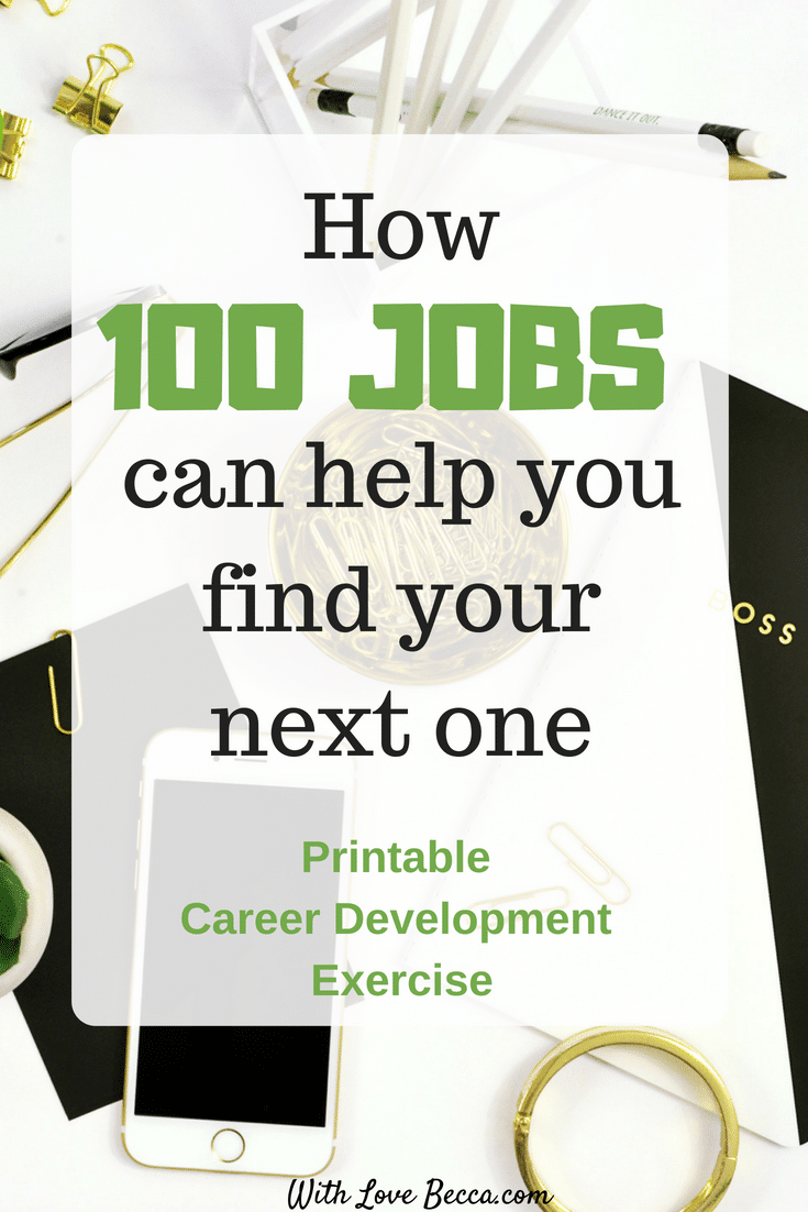 Printable career development exercise. Define what having it all means to you in career and life. Use this printable for your career planning. #careeradvice #career #careerplanning #careerdevelopment