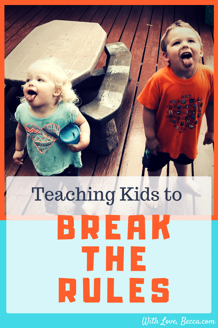 Why it pays to teach your kids to break the rules. And for you to break the rules in your own life for personal development and career development. #parenting #raisingkids #careerdevelopment #professionaldevelopment
