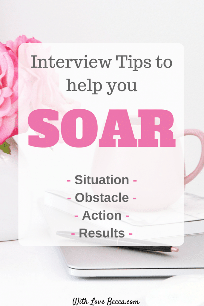 Learn the SOAR method for answering behavioral interview questions. Interview tips wrapped up in a funny parenting story! #interviewingtips #interviewtips #careeradvice #funnymom