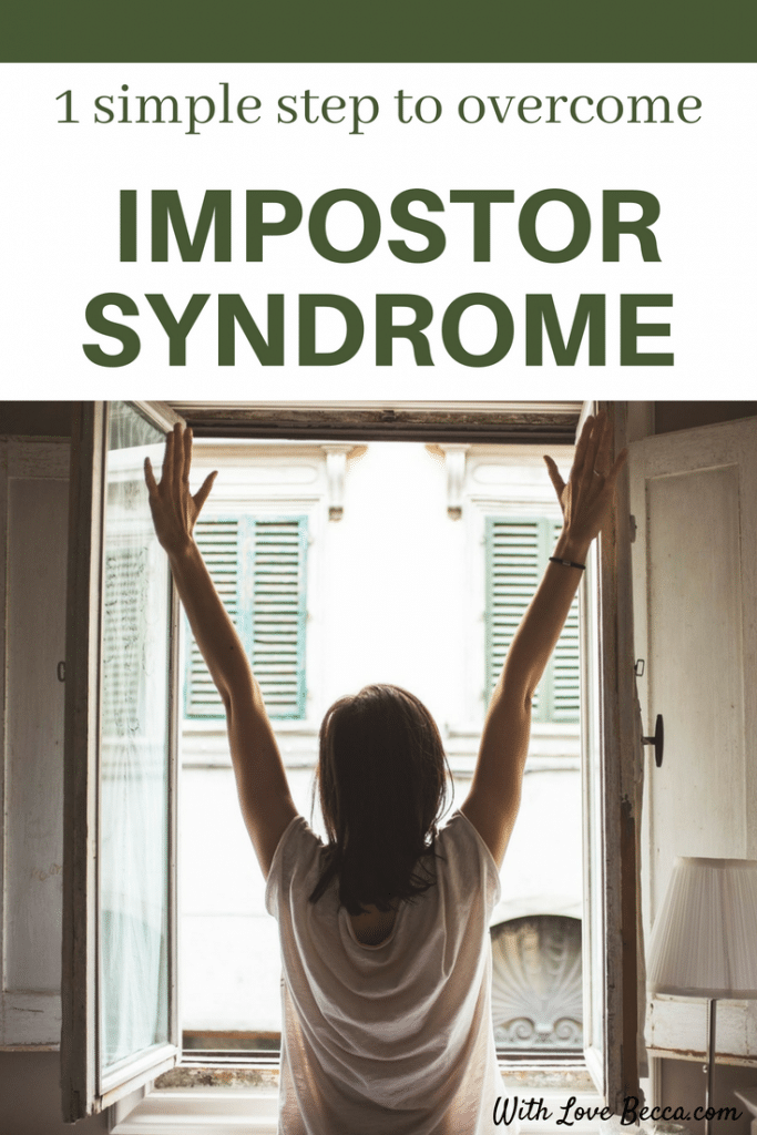 How one simple move can help you overcome impostor syndrome when you feel like you don't belong there. #careerdevelopment #careeradvice #confidence