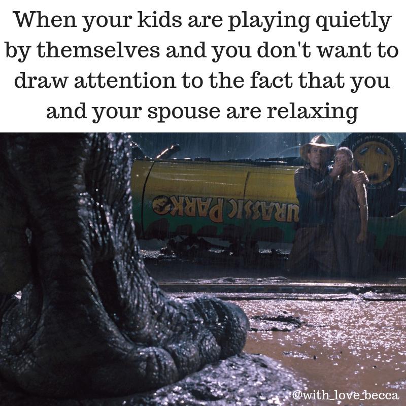 Jurassic Park funny parenting meme