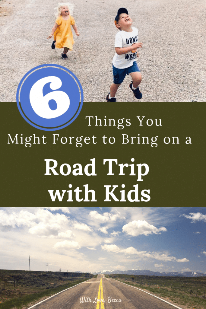 Going on a road trip with kids? Here are the six things you might forget to bring. Don't make our same mistakes! (Funny, Helpful, and Shoppable!)