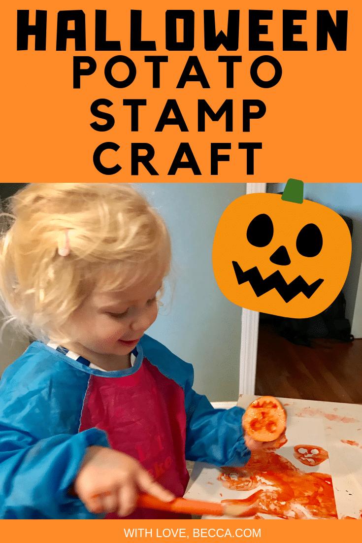 Halloween Potato Stamp Craft.