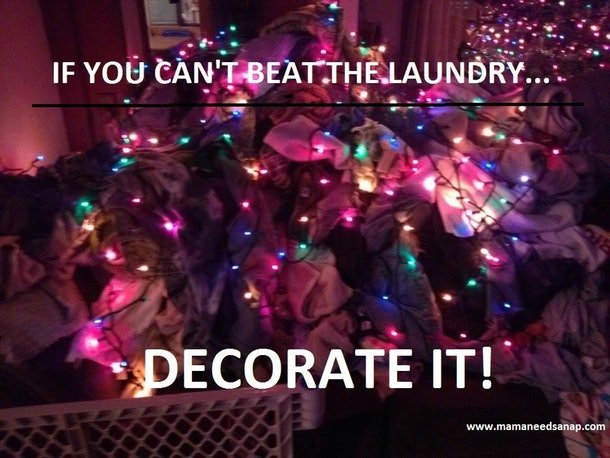 If you can't beat the laundry, decorate it!
