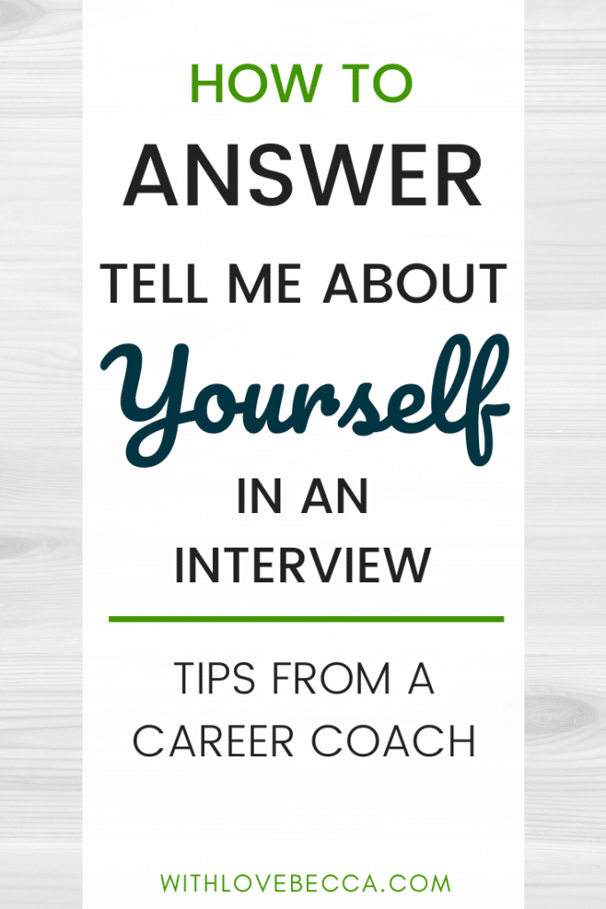 How to answer tell me about yourself in an interview