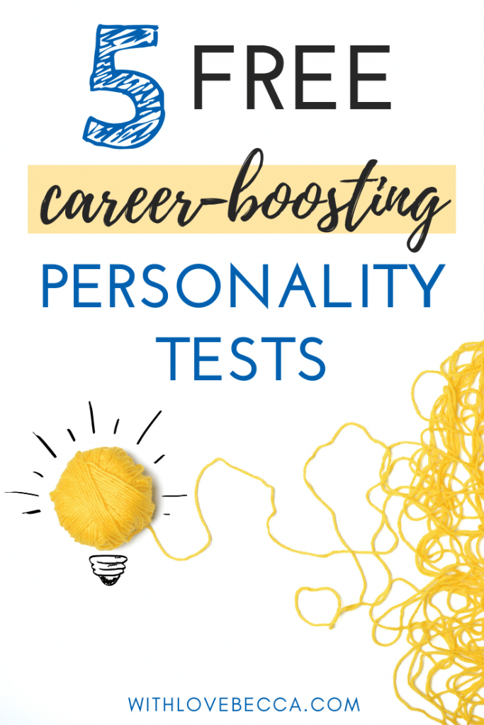 5 Free Personality Tests. Yellow light bulb made from yarn.