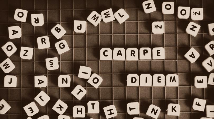 scramble board - carpe diem