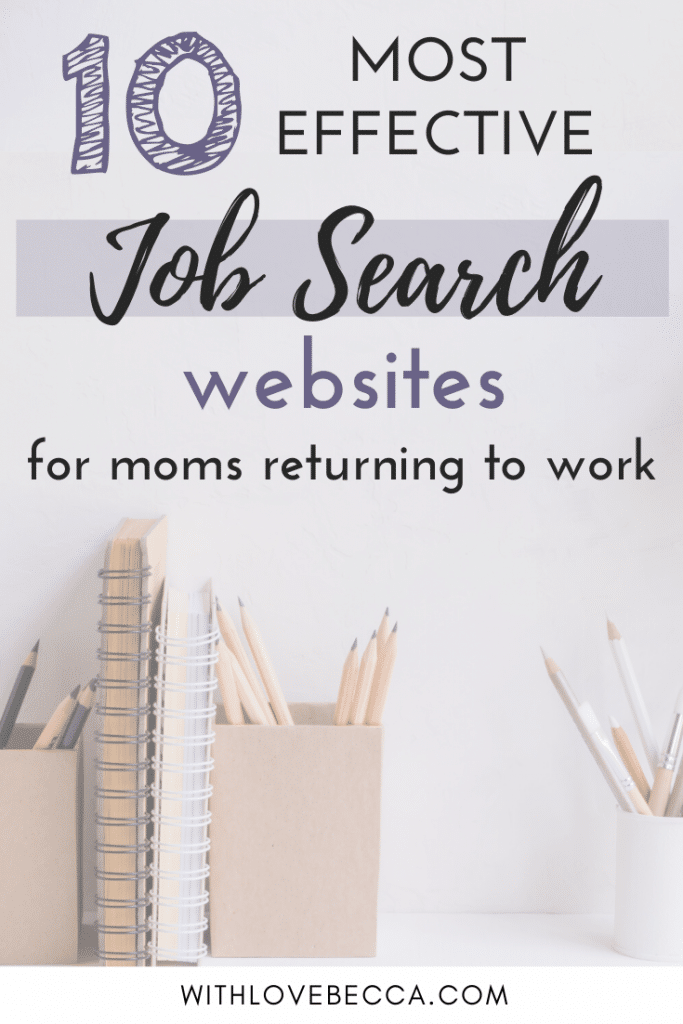 Job Search Websites for moms returning to work