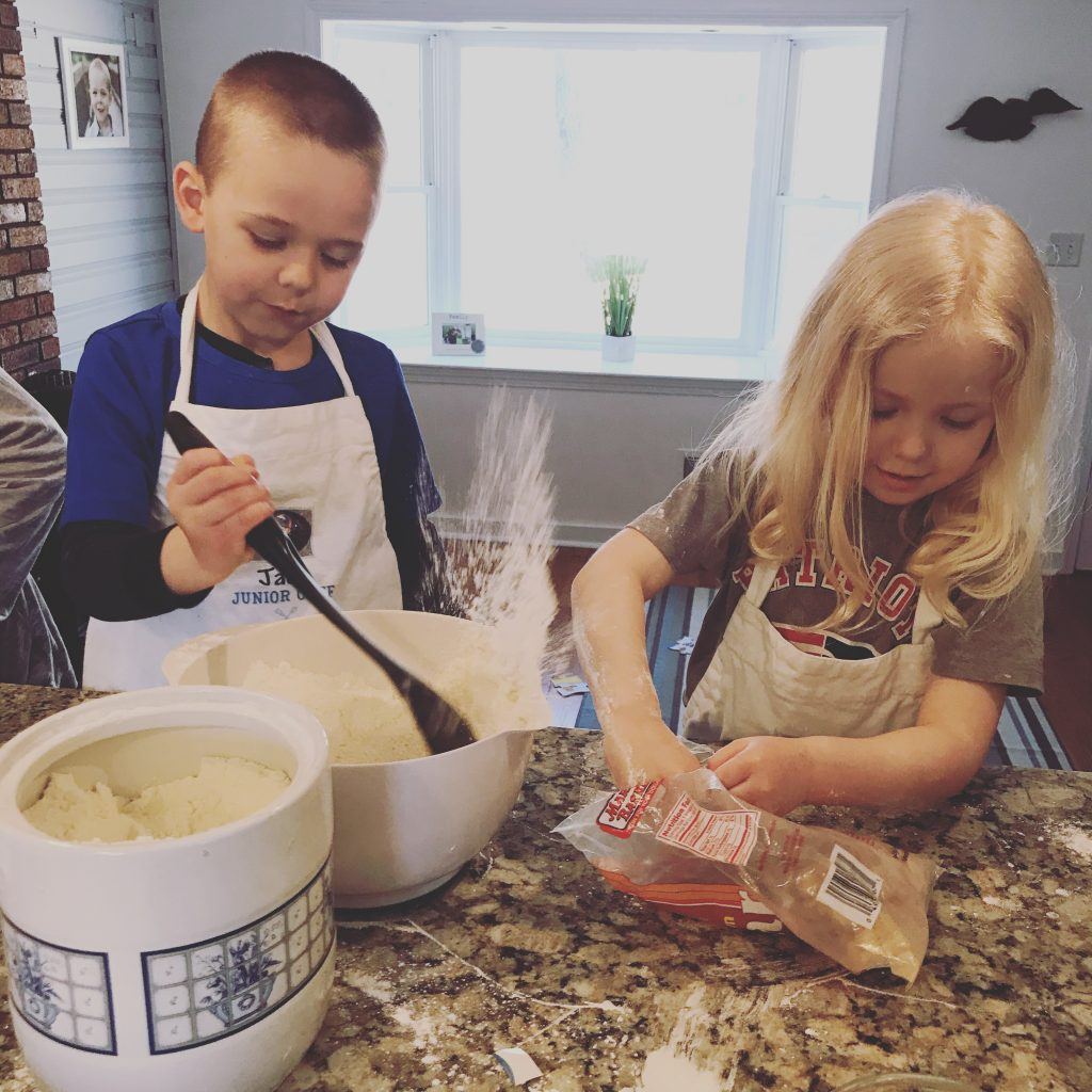 Baking with kids - flour explosion