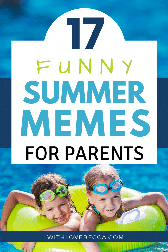 Funny Summer Memes for Parents - Two children in a pool with goggles