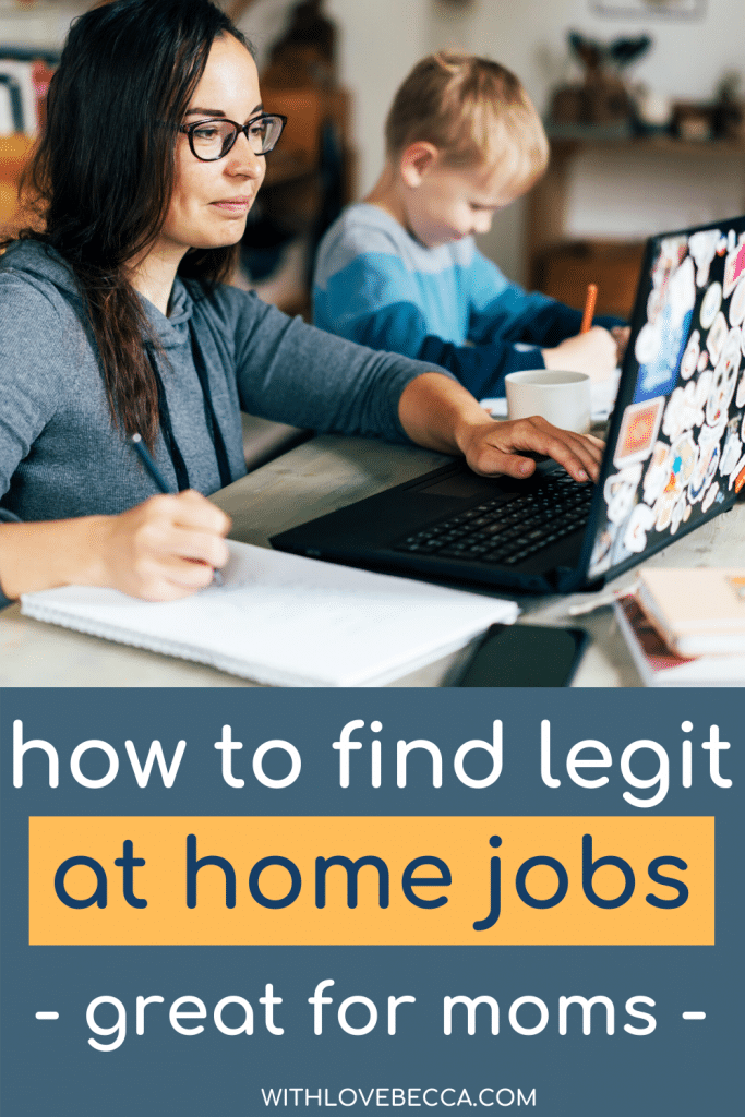 how to find legit at home jobs for moms