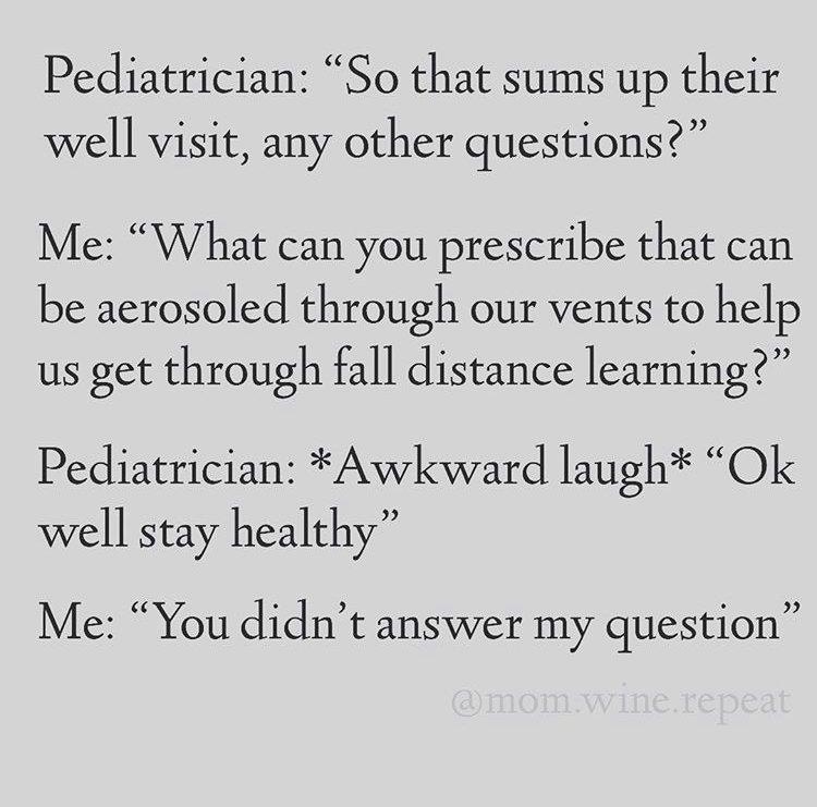 pediatrician back to school meme