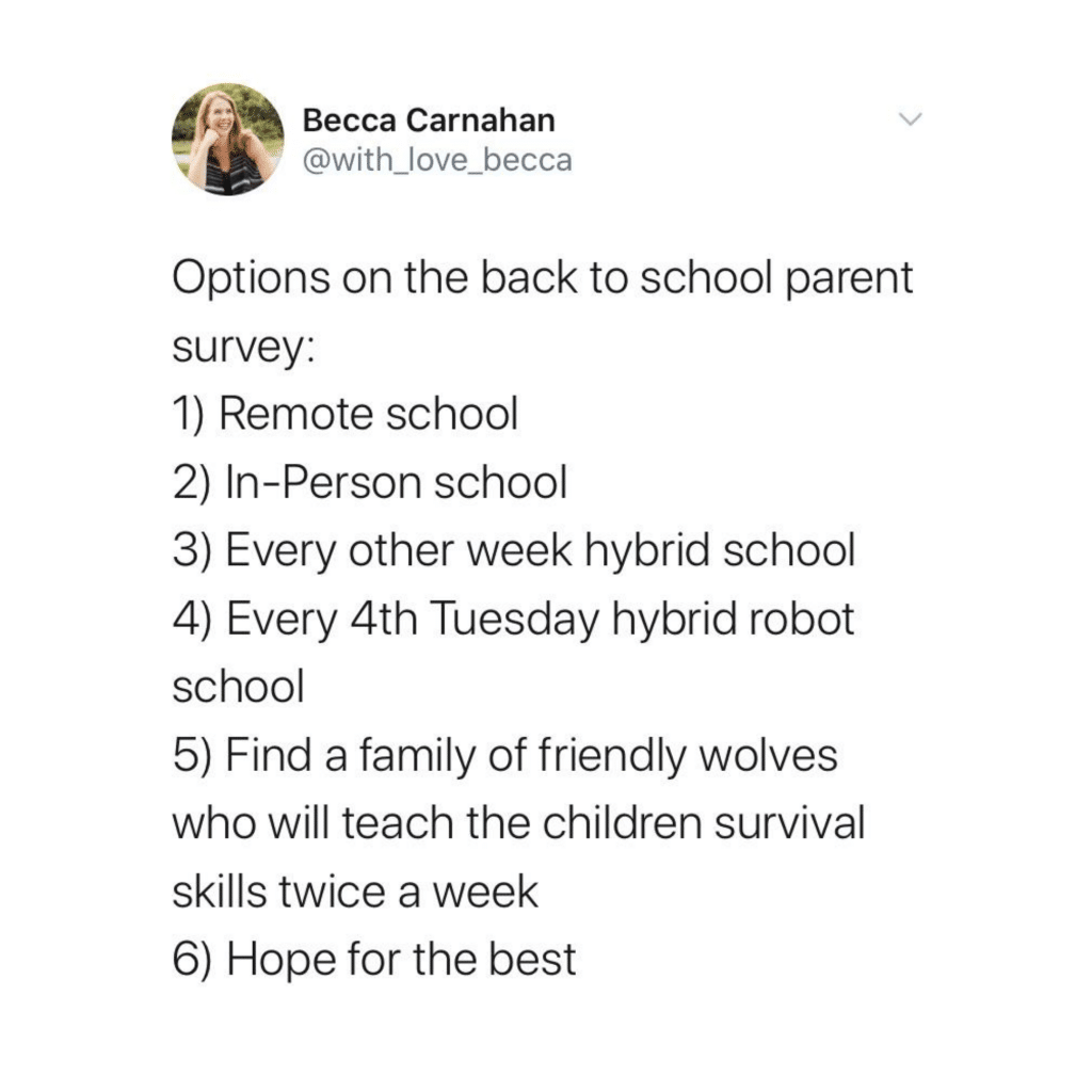 back to school survey meme