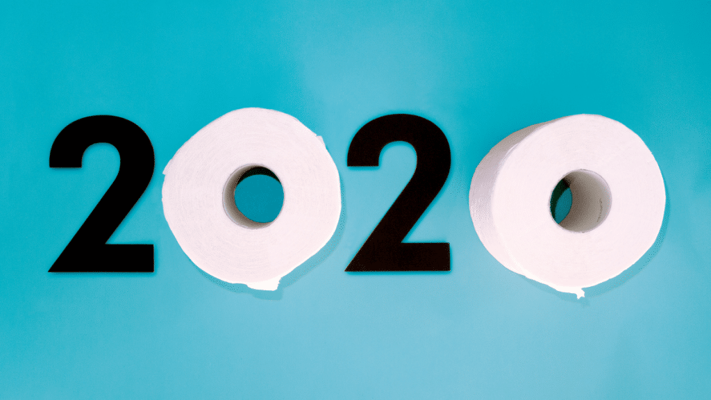 2020 with toilet paper