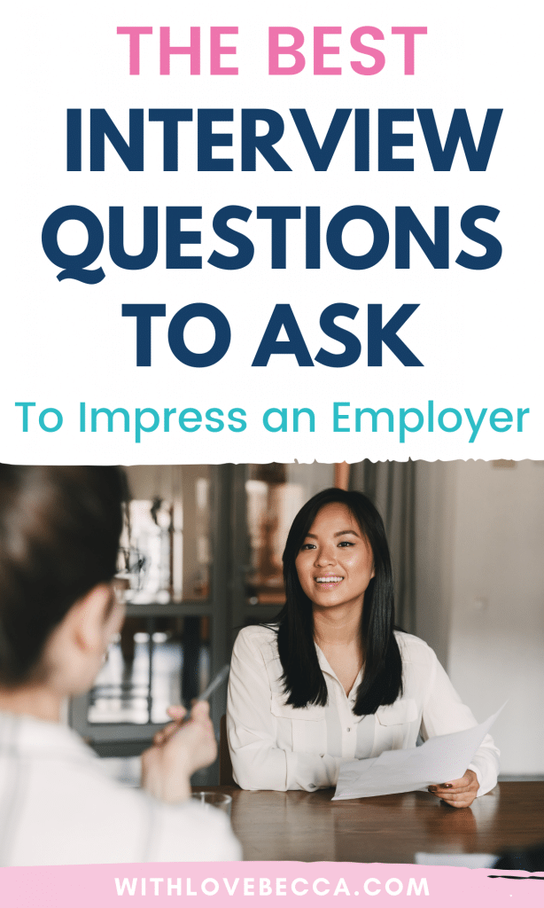 The best interview questions to ask to impress an employer