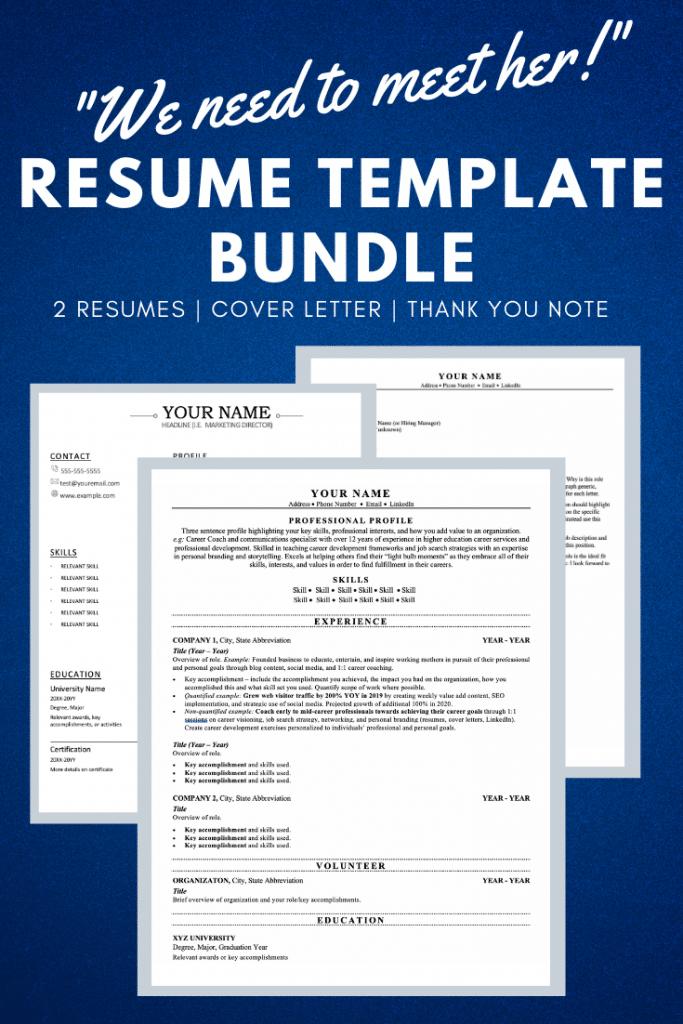 resume template bundle