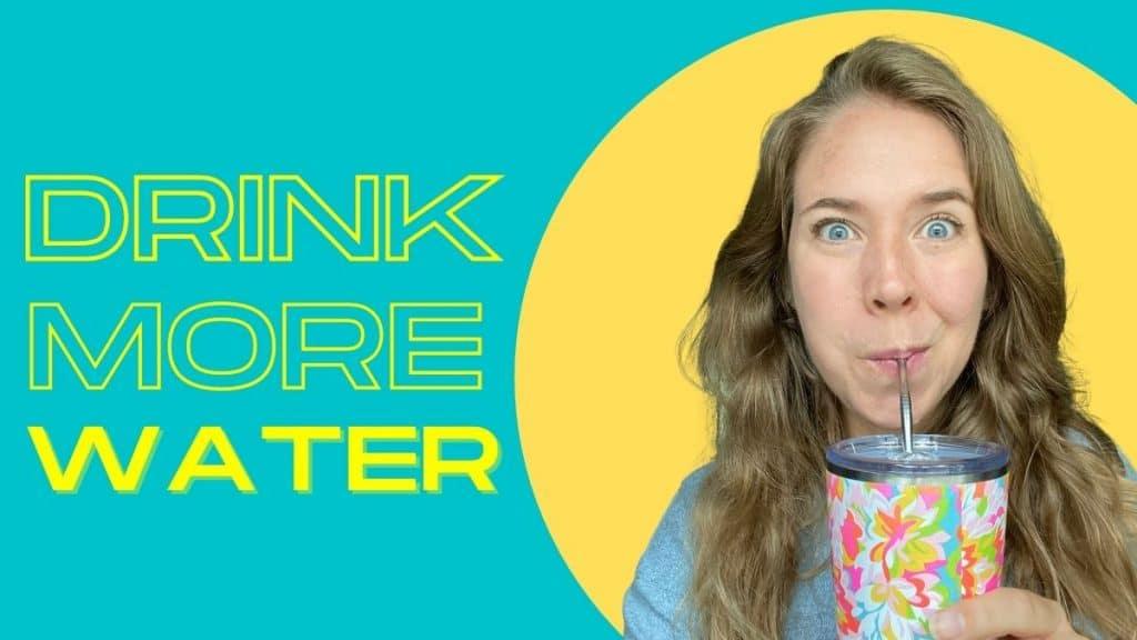 mom water bottle - drink more water