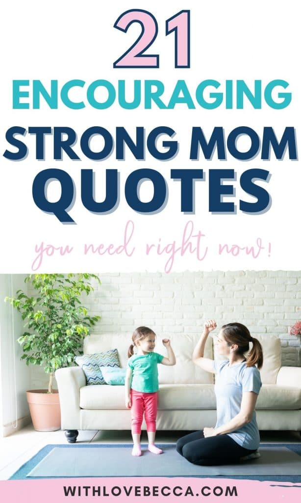 21 Encouraging Strong Mm Quotes - White mother and daughter flexing their arm muscles