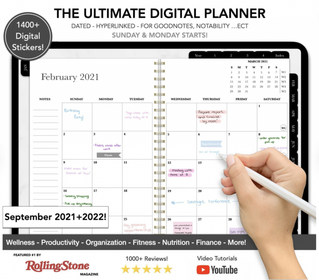 The Ultimate Digital Planner - best planners for working moms